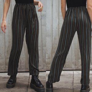 Brandy Melville striped Franky pant XS
